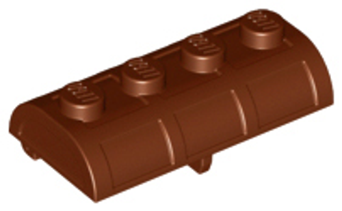 Container, Treasure Chest Lid - Thick Hinge (Reddish Brown)