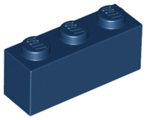 Brick 1x3 (Dark Blue)