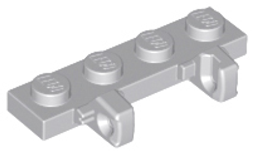 Hinge Plate 1x4 Locking Dual 1 Fingers on Side (Light Bluish Gray)