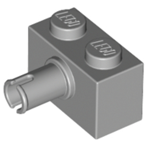 Brick, Modified 1x2 with Pin (Light Bluish Gray)