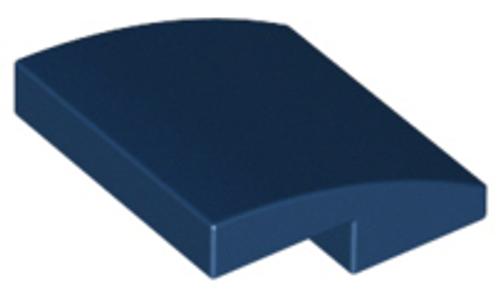 Slope, Curved 2x2 No Studs (Dark Blue)