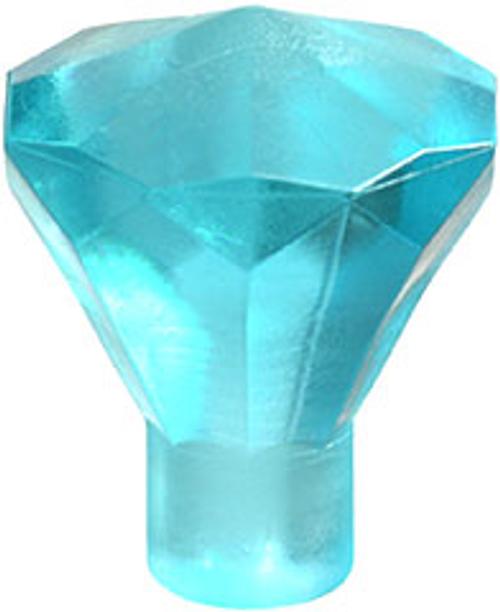 Rock 1x1 Jewel 24 Facet (Trans Light Blue)