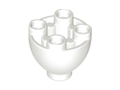 Brick, Round 2x2 Dome Bottom with Studs (White)