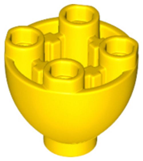 Brick, Round 2x2 Dome Bottom with Studs (Yellow)