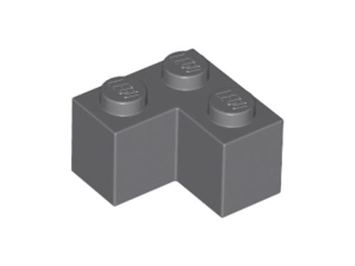 Brick 2x2 Corner (Dark Bluish Gray)