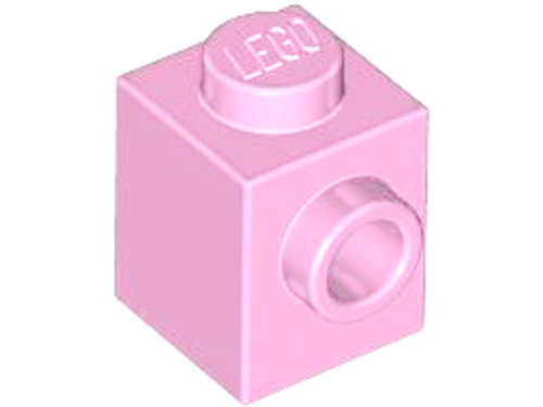 Brick, Modified 1x1 with Stud on 1 Side (Bright Pink)