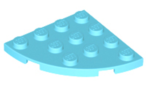 Plate, Round Corner 4x4 (Medium Azure)