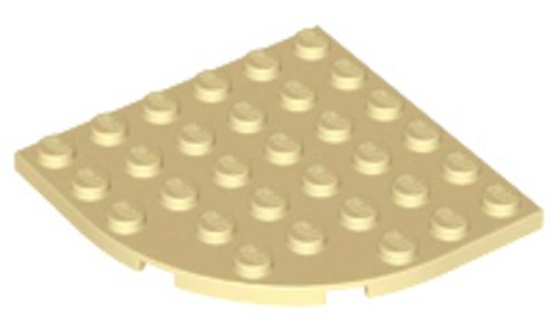 Plate, Round Corner 6x6 (Tan)