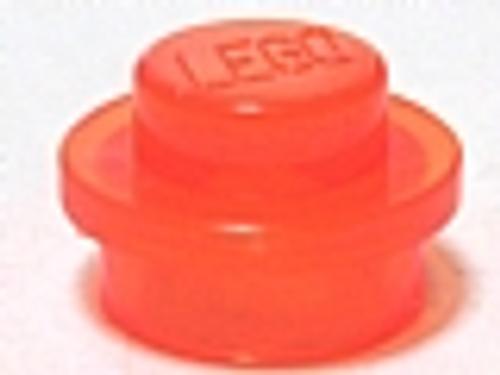 Plate, Round 1x1 (Trans Neon Orange)
