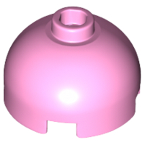 Brick, Round 2x2 Dome Top - Hollow Stud with Bottom Axle Holder (Bright Pink)