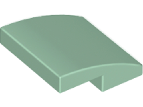 Slope, Curved 2x2 No Studs (Sand Green)