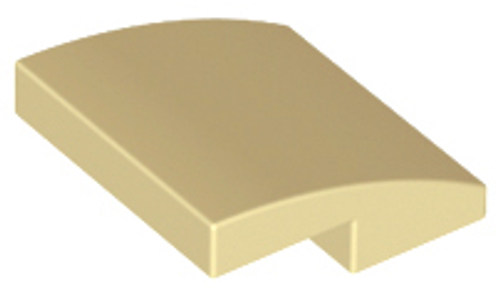Slope, Curved 2x2 No Studs (Tan)