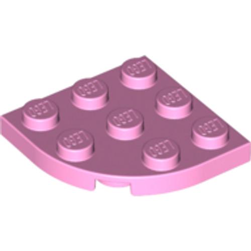 Plate, Round Corner 3x3 (Bright Pink)