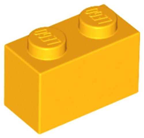 Brick 1x2 (Bright Light Orange)