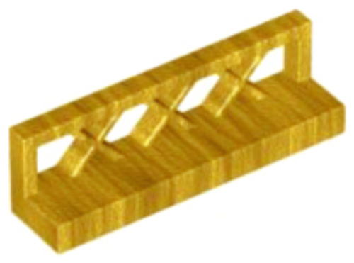 Fence 1x4x1 (Pearl Gold)