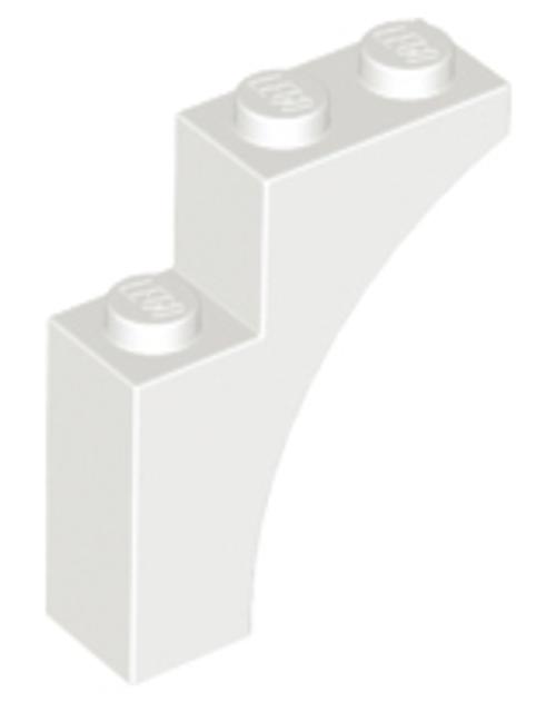 Brick, Arch 1x3x3 (White)