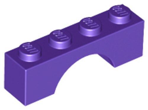 Brick, Arch 1x4 (Dark Purple)