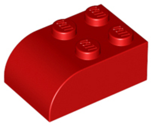 Brick, Modified 2x3 with Curved Top (Red)