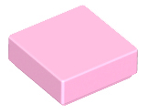 Tile 1x1 with Groove (Bright Pink)