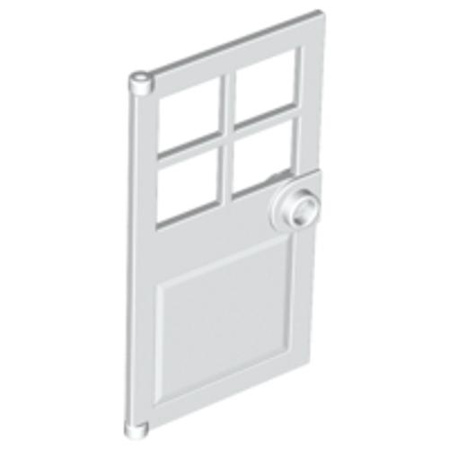 Door 1x4x6 with 4 Panes and Stud Handle (White)