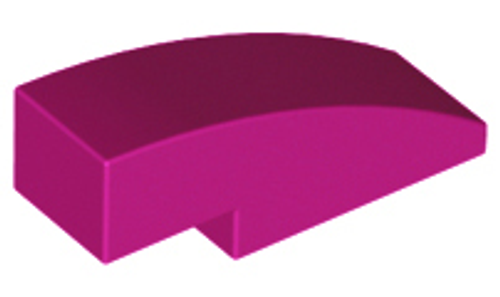 Slope, Curved 3x1 No Studs (1x3) (Magenta)