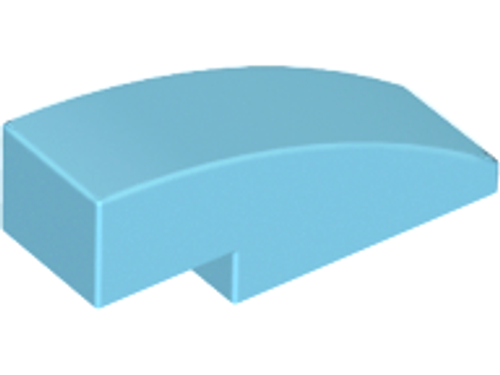 Slope, Curved 3x1 (1x3) No Studs (Medium Azure)