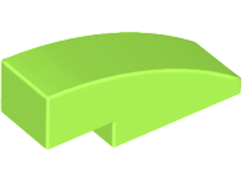 Slope, Curved 3x1 (1x3) No Studs (Lime)