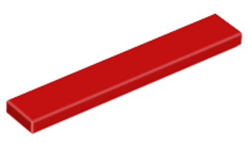 Tile 1x6 (Red)