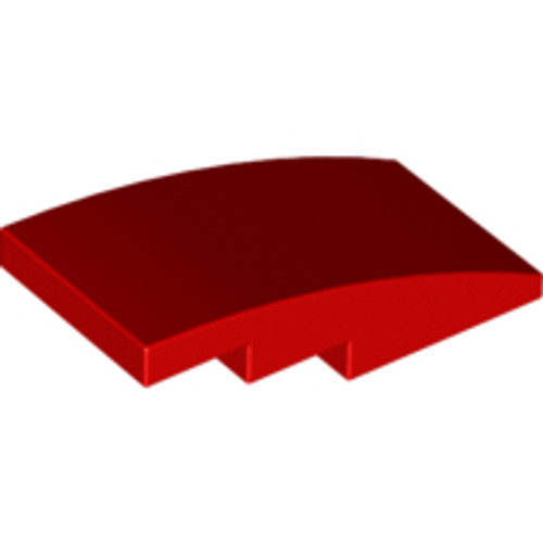 Slope, Curved 4x2 No Studs (Red)