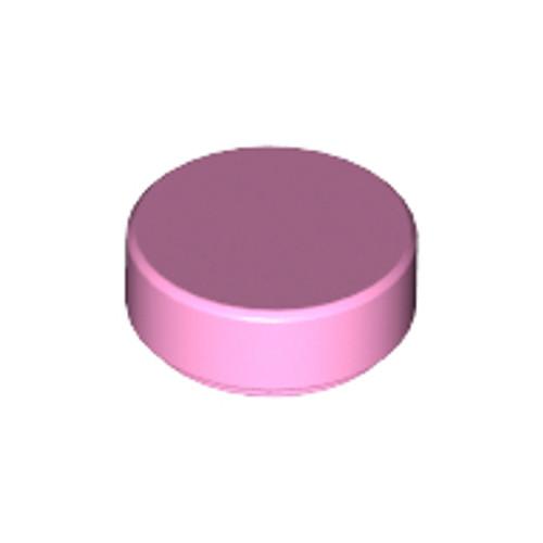 Tile, Round 1x1 (Bright Pink)