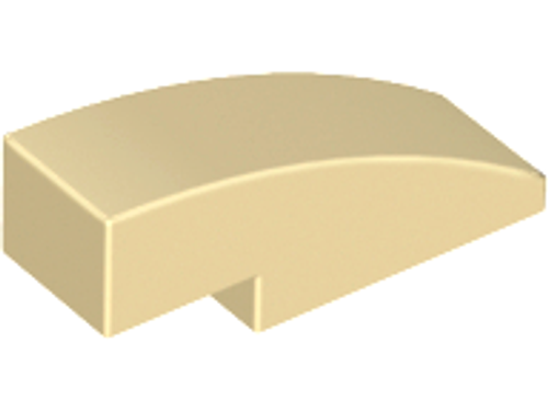 Slope, Curved 3x1 (1x3) No Studs (Tan)