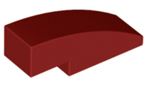 Slope, Curved 3x1 (1x3) No Studs (Dark Red)