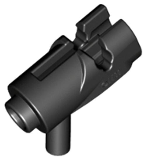Minifigure, Weapon Gun, Mini Blaster / Shooter (Black)