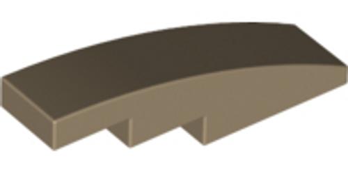 Slope, Curved 4x1 No Studs (Dark Tan)