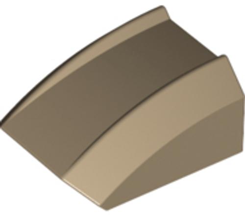 Slope, Curved 2x2 Lip (Dark Tan)