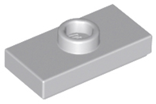 Plate, Modified 1x2 with 1 Stud with Groove and Bottom Stud Holder (Light Bluish Gray)