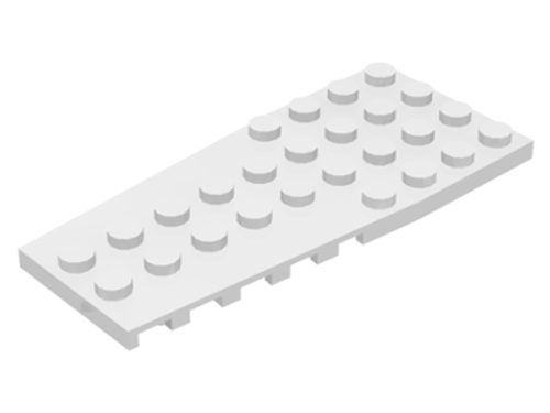 Wedge, Plate 4x9 with Stud Notches (White)