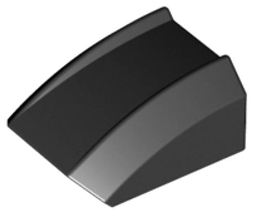 Slope, Curved 2x2 Lip (Black)