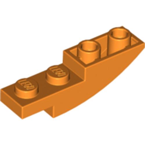 Slope, Curved 4x1 Inverted (Orange)