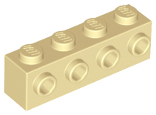 Brick, Modified 1x4 with 4 Studs on 1 Side (Tan)