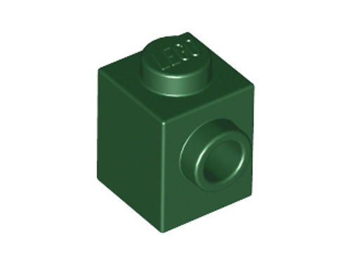 Brick, Modified 1x1 with Stud on 1 Side (Dark Green)
