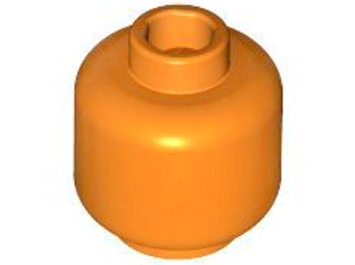 Minifigure, Head (Plain) - Hollow Stud (Orange)