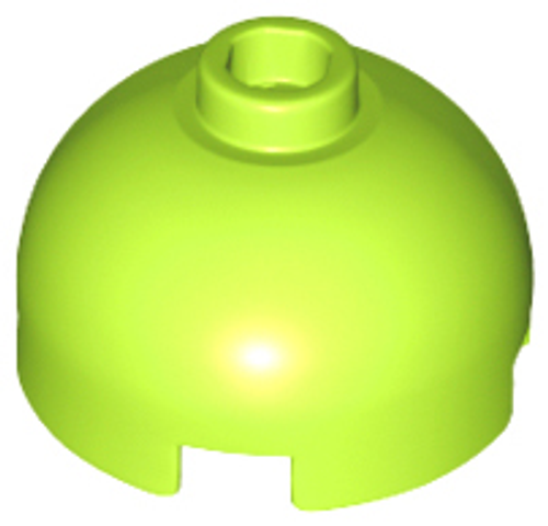 Brick, Round 2x2 Dome Top - Hollow Stud with Bottom Axle Holder (Lime)