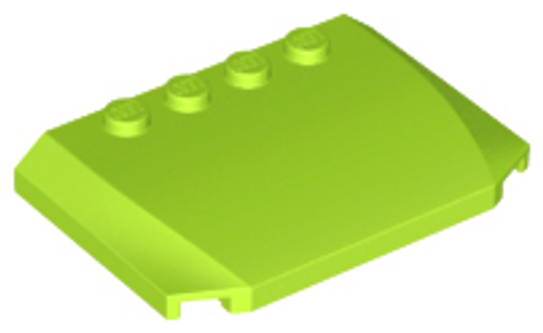 Wedge 4x6x2/3 Triple Curved (Lime)