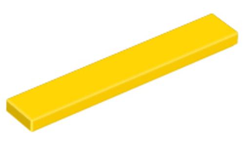 Tile 1x6 (Yellow)