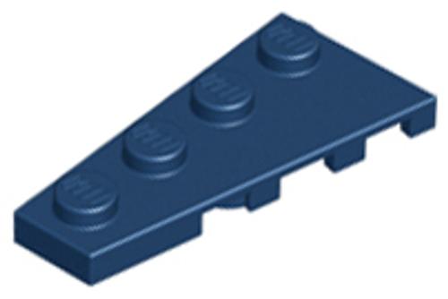 Wedge, Plate 4x2 Left (Dark Blue)