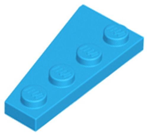 Wedge, Plate 4x2 Right (Dark Azure)
