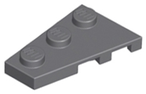 Wedge, Plate 3x2 Left (Dark Bluish Gray)