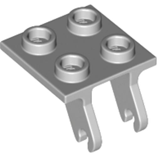 Plate, Modified 2x2 Thin with Plane Single Wheel Holder (Light Bluish Gray)