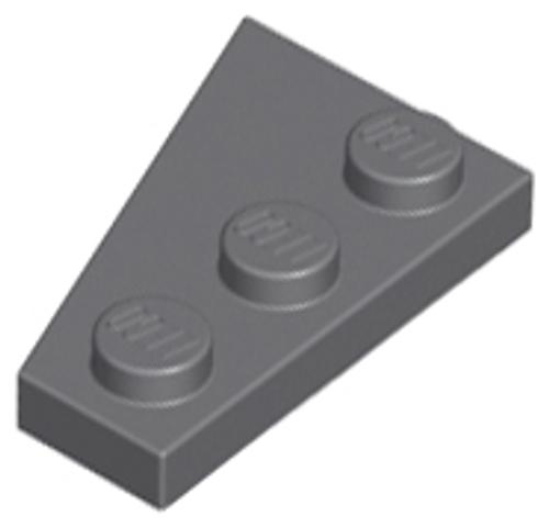 Wedge, Plate 3x2 Right (Dark Bluish Gray)